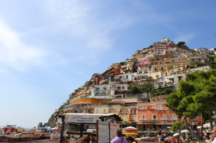 Positano from below vert view