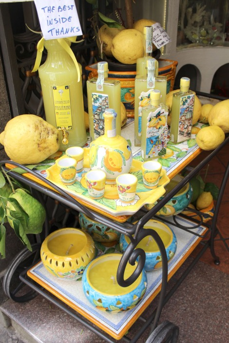 Positano limoncello cart display