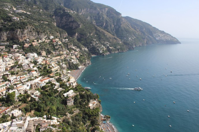 Positano overlook town & water