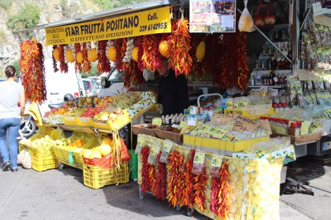 Positano produce & pepper display