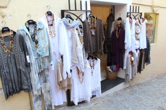 Positano style clothing hanging