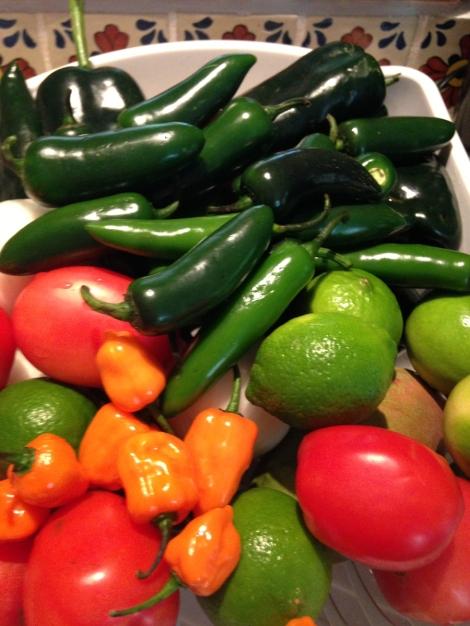 Nah Uxibal rinsed veggies