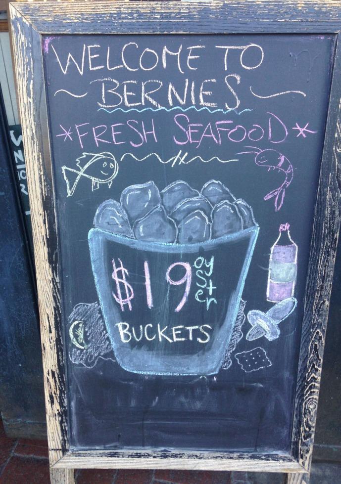Bernies chalkboard