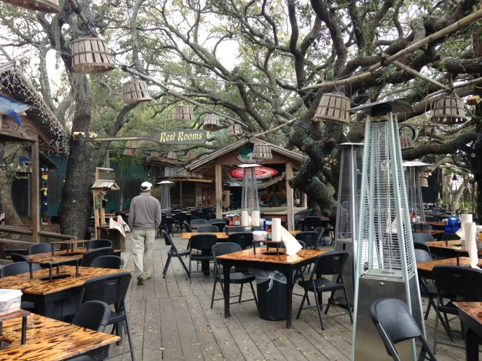 Crab Shack patio area