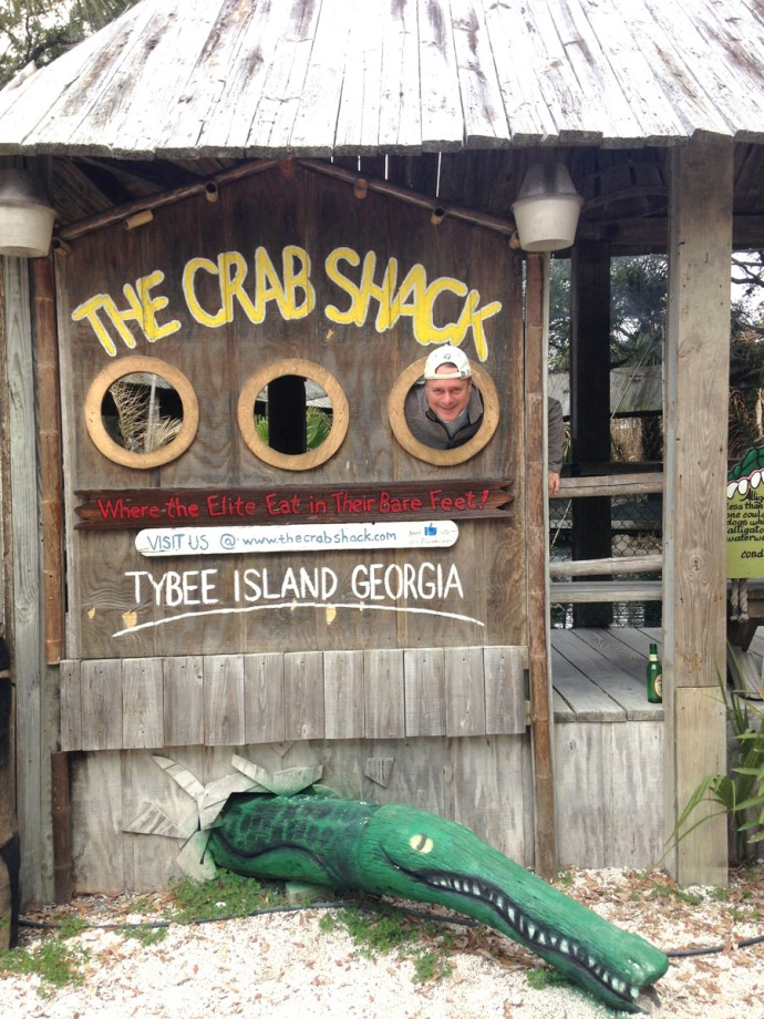 Crab Shack photo op, Wally