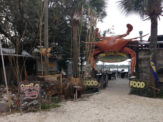 Crab Shack sign entrance