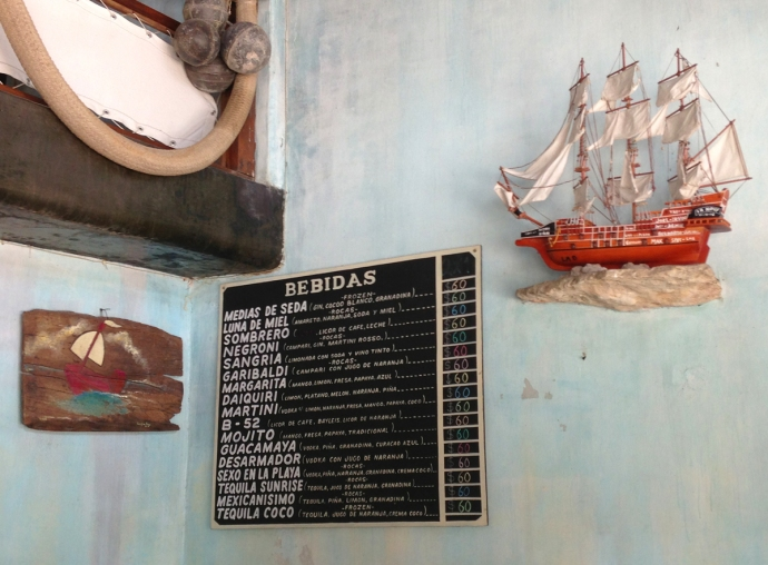 La Nave Bebidas drink board