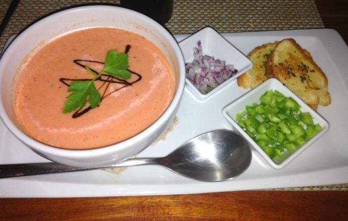 Piedra Escondida gazpacho soup