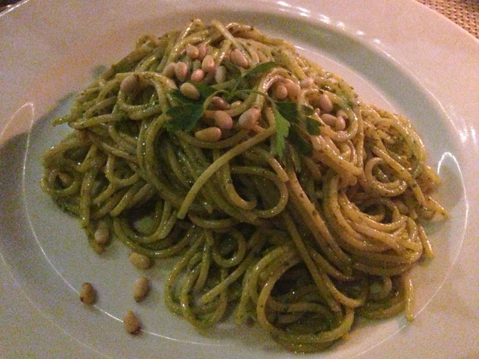Piedra Escondida pesto pasta