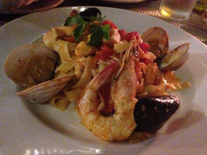 Piedra Escondida seafood dish