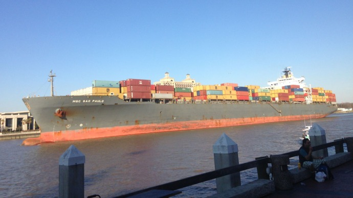 Savannah cargo ship