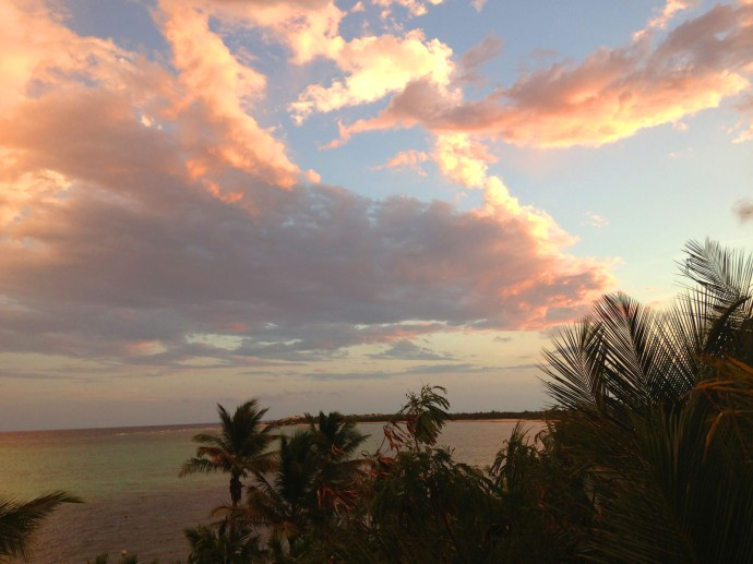 Soliman Bay bright sunset clouds