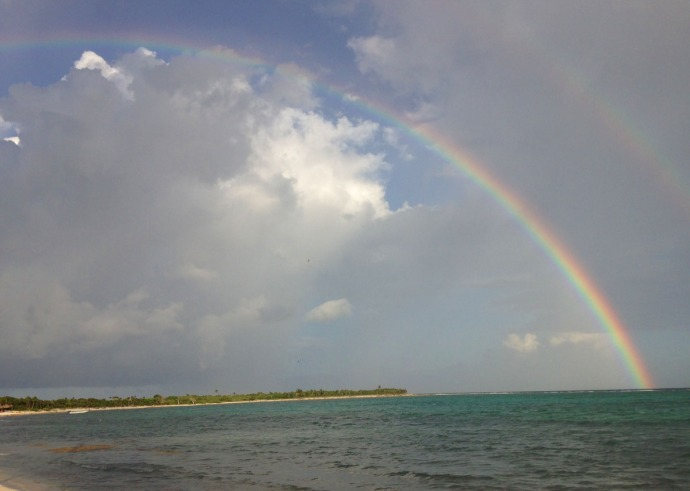 Soliman Bay double rainbow