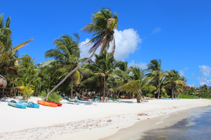 Soliman Bay kayaks and cocos