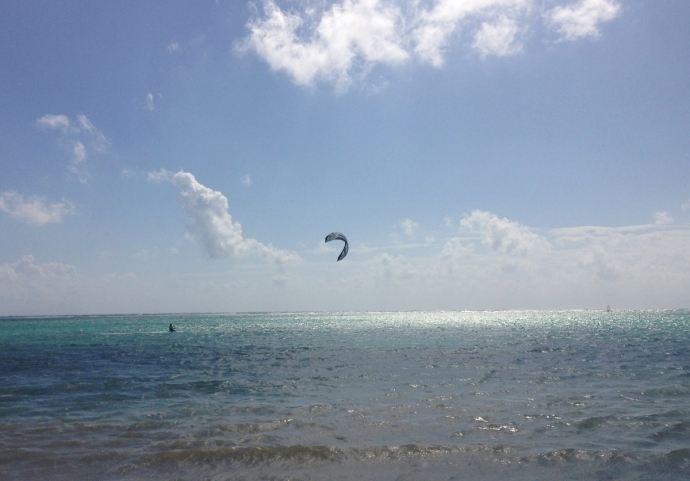 Soliman Bay kiteboarder