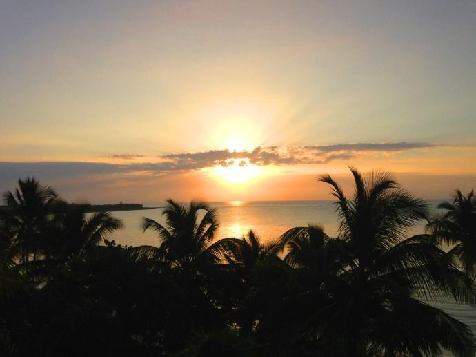 Soliman Bay Sunrise, black and orange