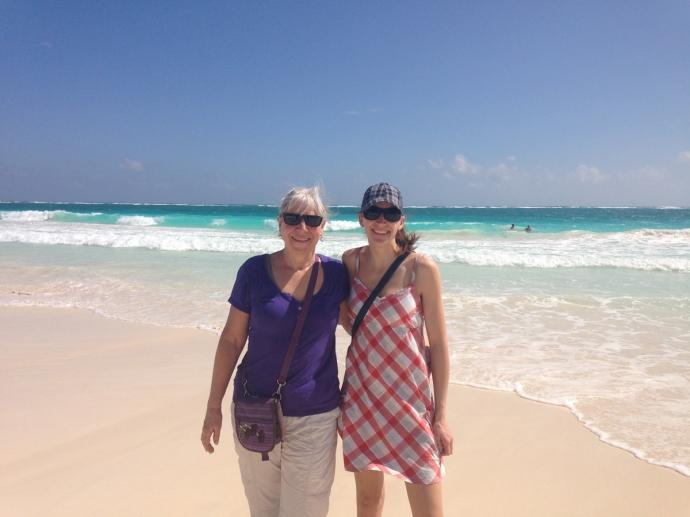 Tulum Beach Debbie & Andrea