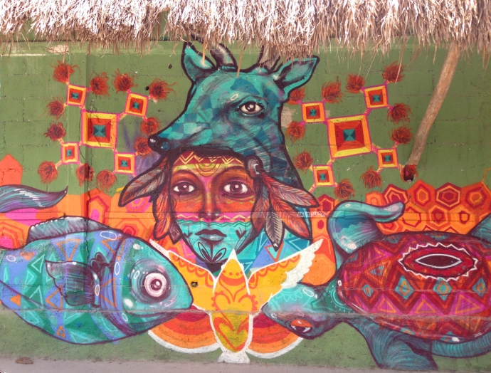Tulum wall mural