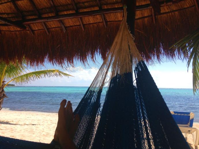 Uxibal palapa hammock feet