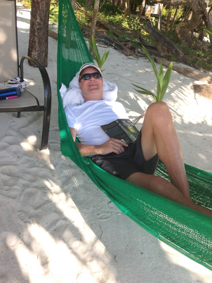 Wally in hammock, Uxibal