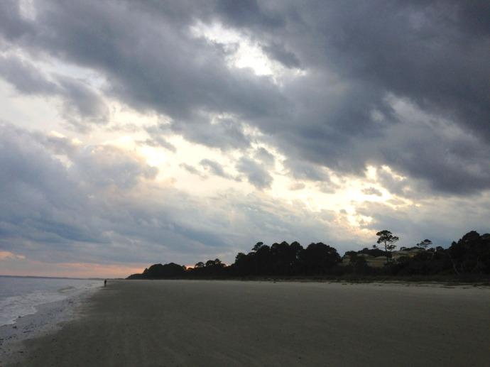 Dahfuskie stormy beach