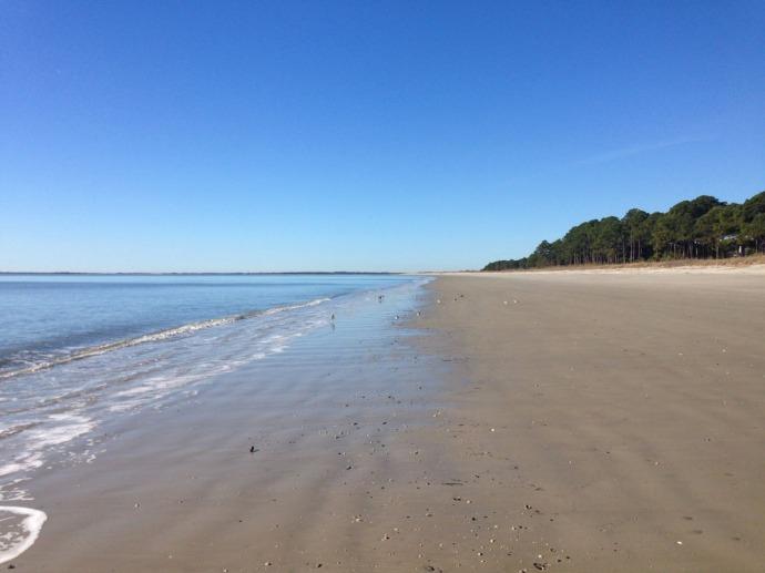 Daufuskie Beach deserted beach