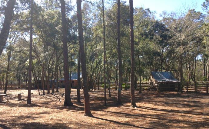 Daufuskie Farm goat yard & barns