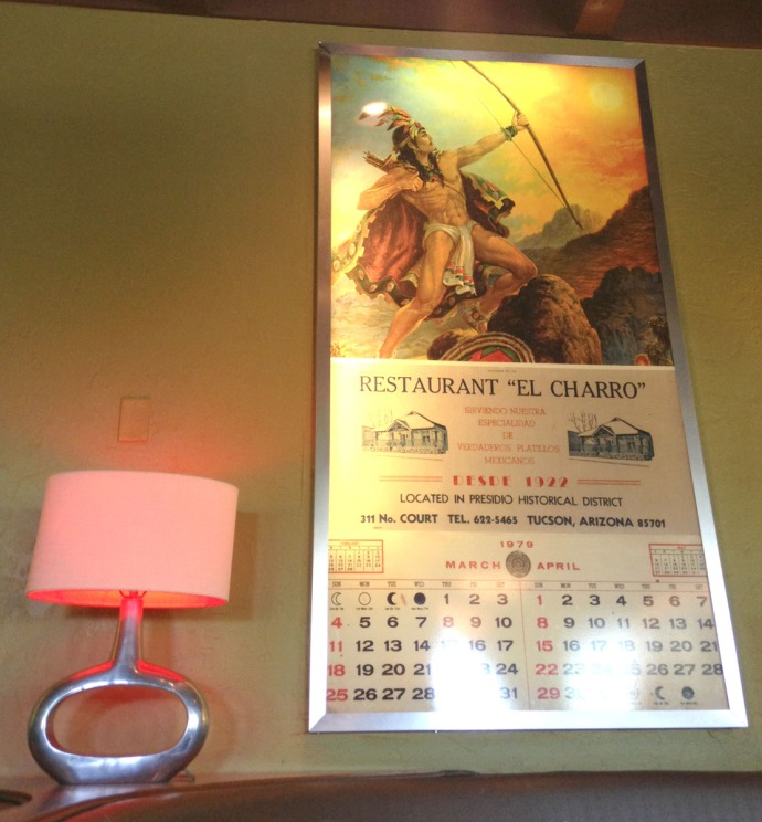 El Charro Cafe warrior calendar