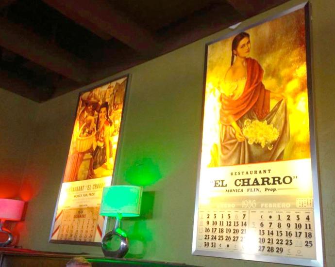 El Charro calendar pics