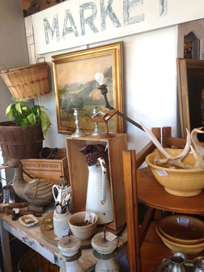 The Grey House Antiques bowls, baskets