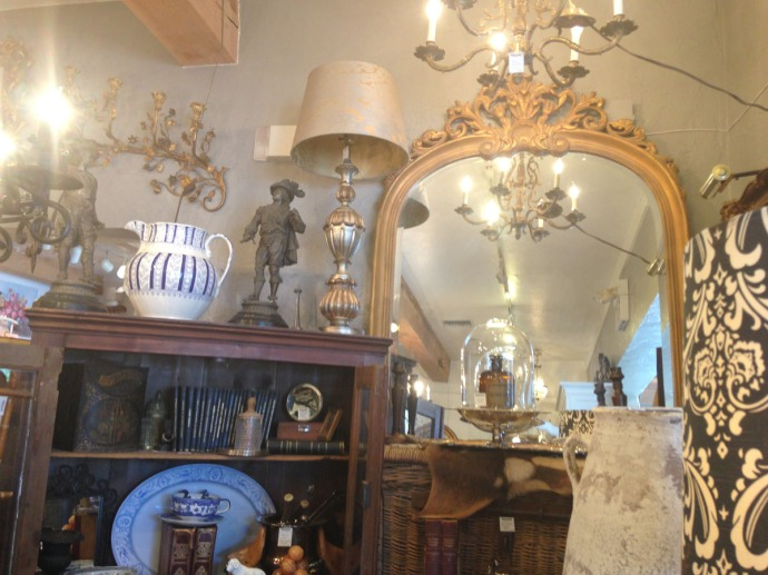 The Grey House Antiques gold mirror