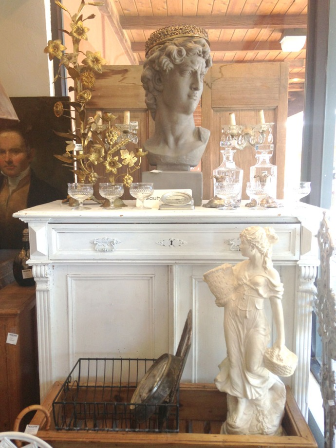 The Grey House Antiques sculptures