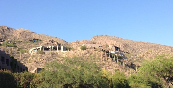 Ventana Canyon big houses on mtn