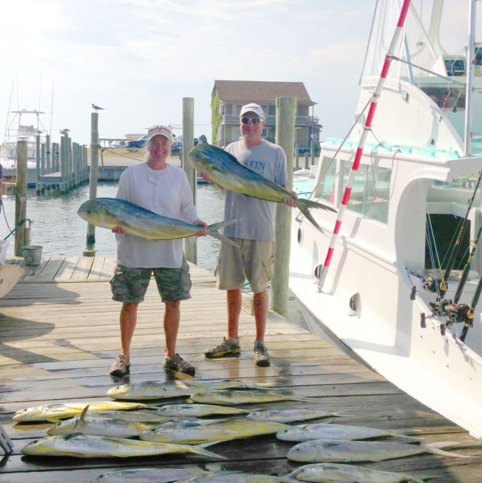 Albatross Fleet, Jamie & Wally with mahi