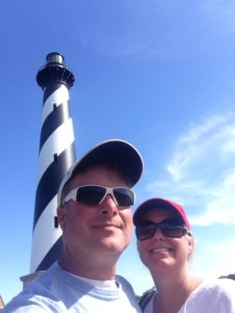 Hatteras lighthouse J & W selfie