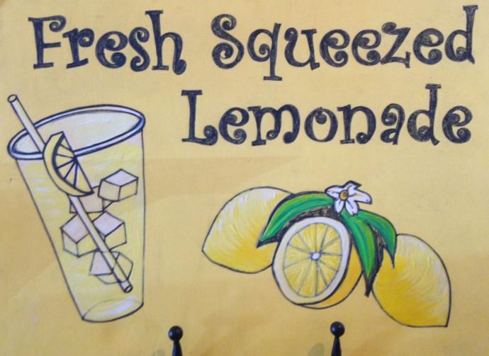 Avon, Burger Burger lemonade sign