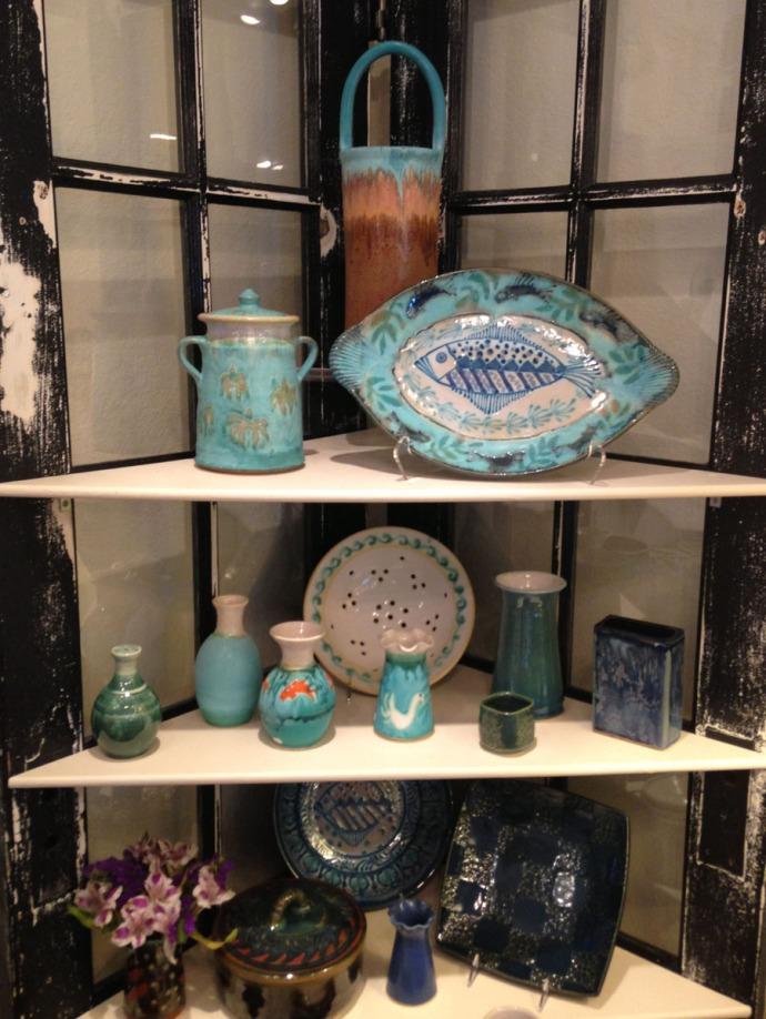 Avon, Kinakeet Clayworks aqua pottery