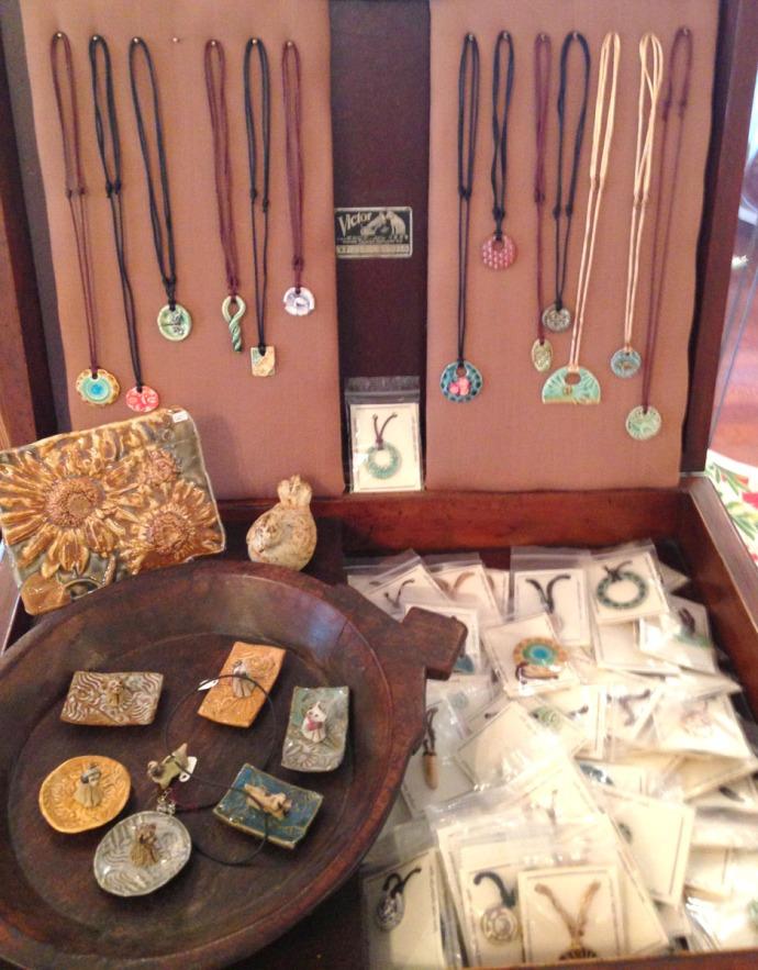 Avon, Kinakeet Clayworks clay necklaces