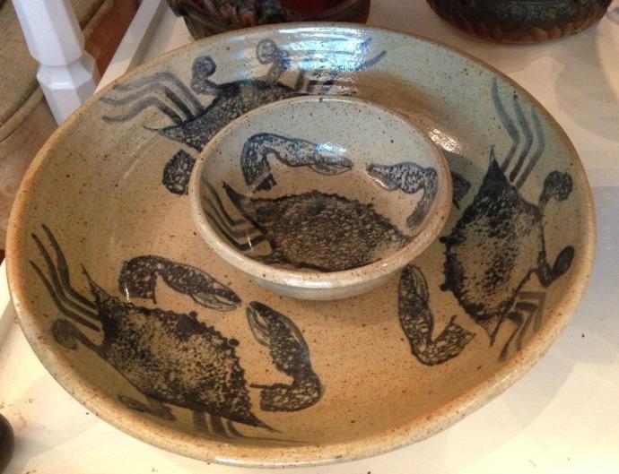 Avon, Kinakeet Clayworks crab dip bowl