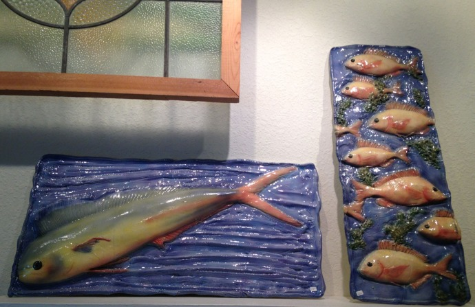 Avon, Kinakeet Clayworks fish plaques