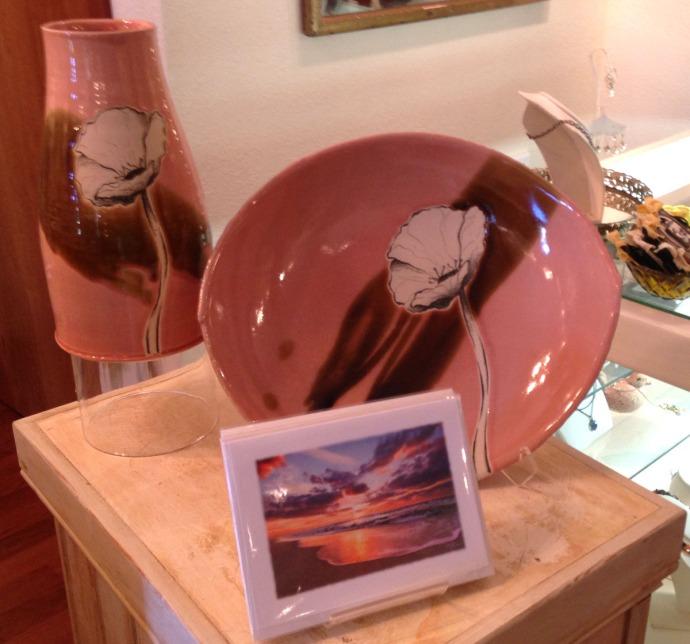 Avon, Kinakeet Clayworks pink pottery