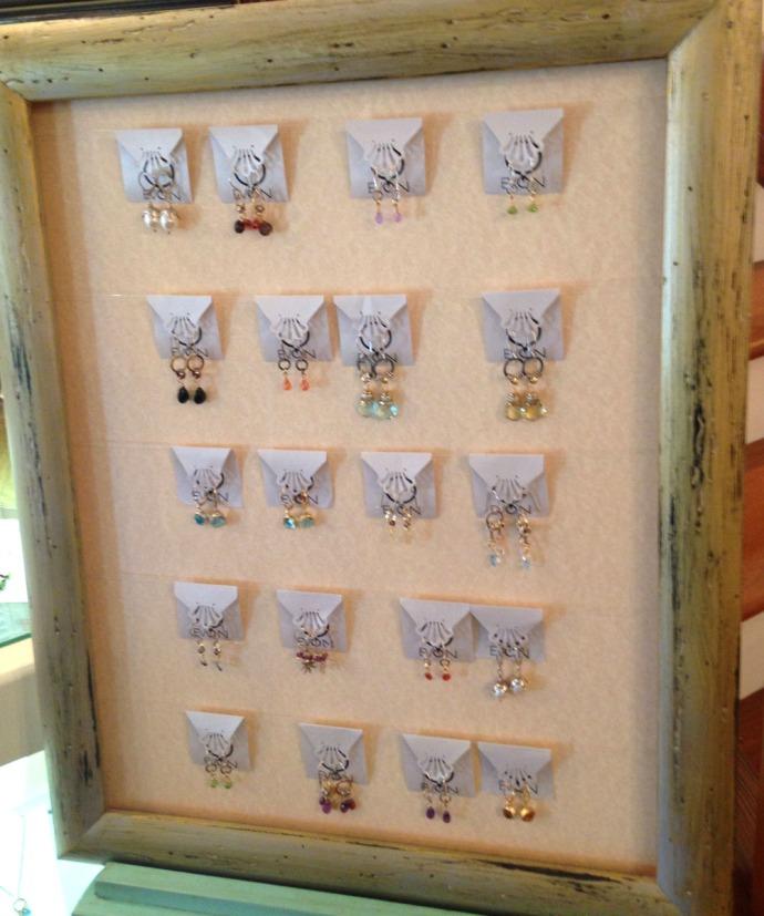 Avon, Kinakeet Clayworks silver earrings