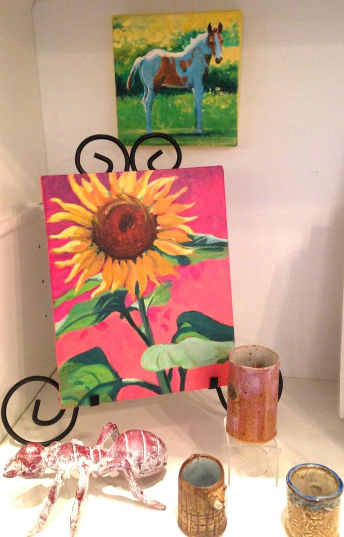 Avon, Kinakeet Clayworks sunflower & horse pic