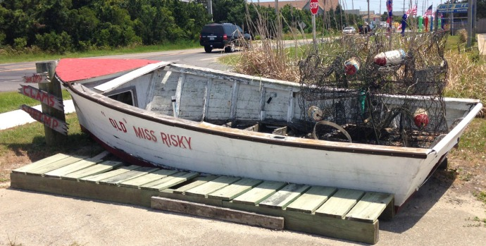 Avon, Risky Business Seafood Market boat
