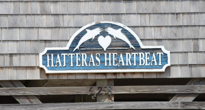 Frisco Hatteras Heartbeat sign