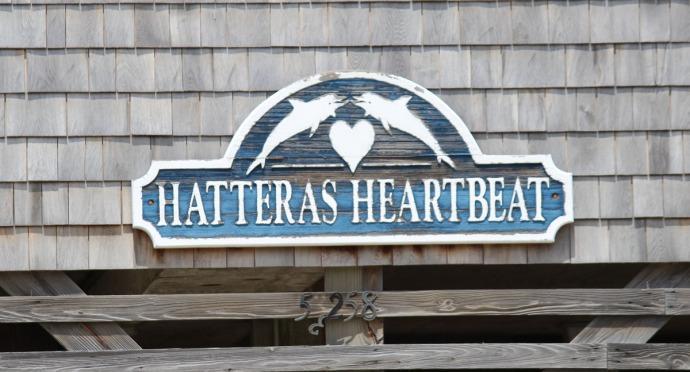 Frisco Hatteras Heartbeat sign