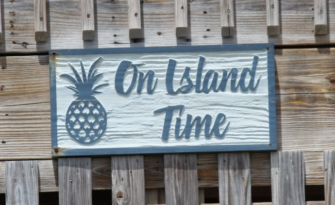 Frisco, On Island Time sign