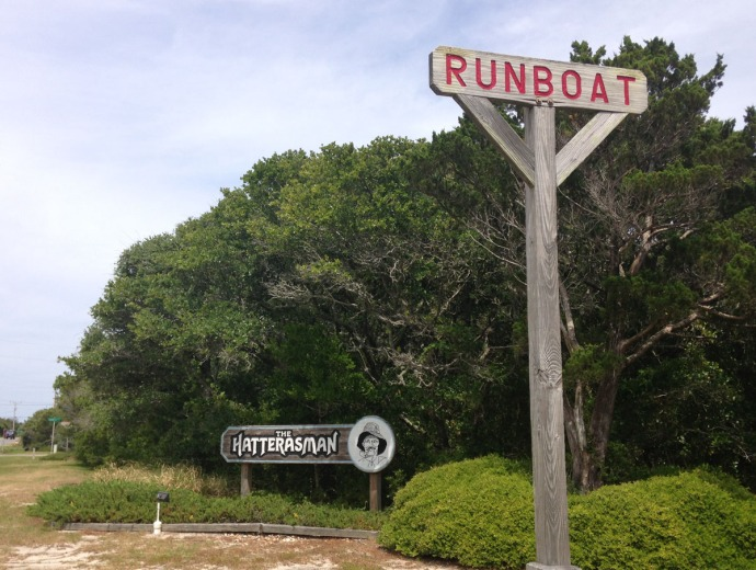Frisco, Runboat road sign