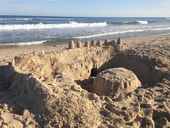 Frisco, sand castle