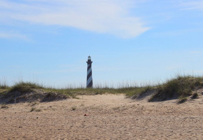 Hatteras lighthouse beach shot
